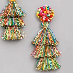 Jewelry - Party Mix Multicolor Beaded Tiered Tassel Earrings